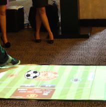 piso interactivo juego futbol
