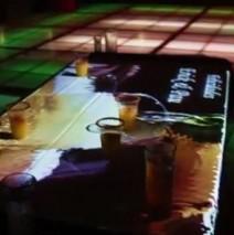 Barra interactiva con proyeccion